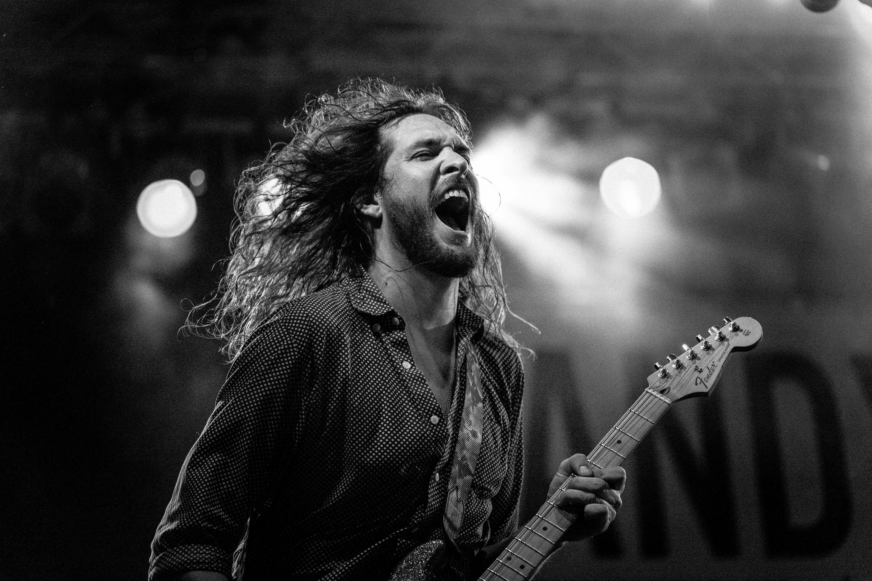 Gitarrist på scenen